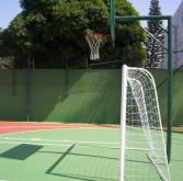 Basquete e futebol salão